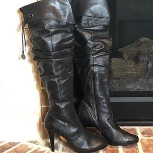 SH-120 Jessica Simpson Knee-Hi Black Boots 9M